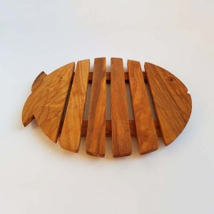 Fish shaped Olive Wood-Trivet Wooden Trivet