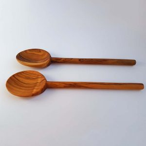 Set of two round handle spoons
